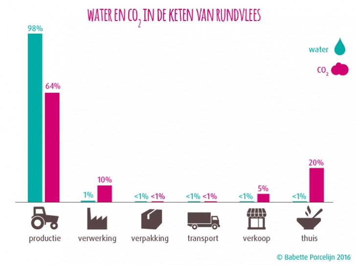 verborgen impact water-co2-rundvlees