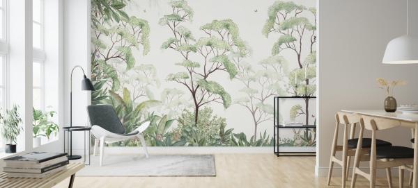 Behang met natuur is goed voor gezondheid