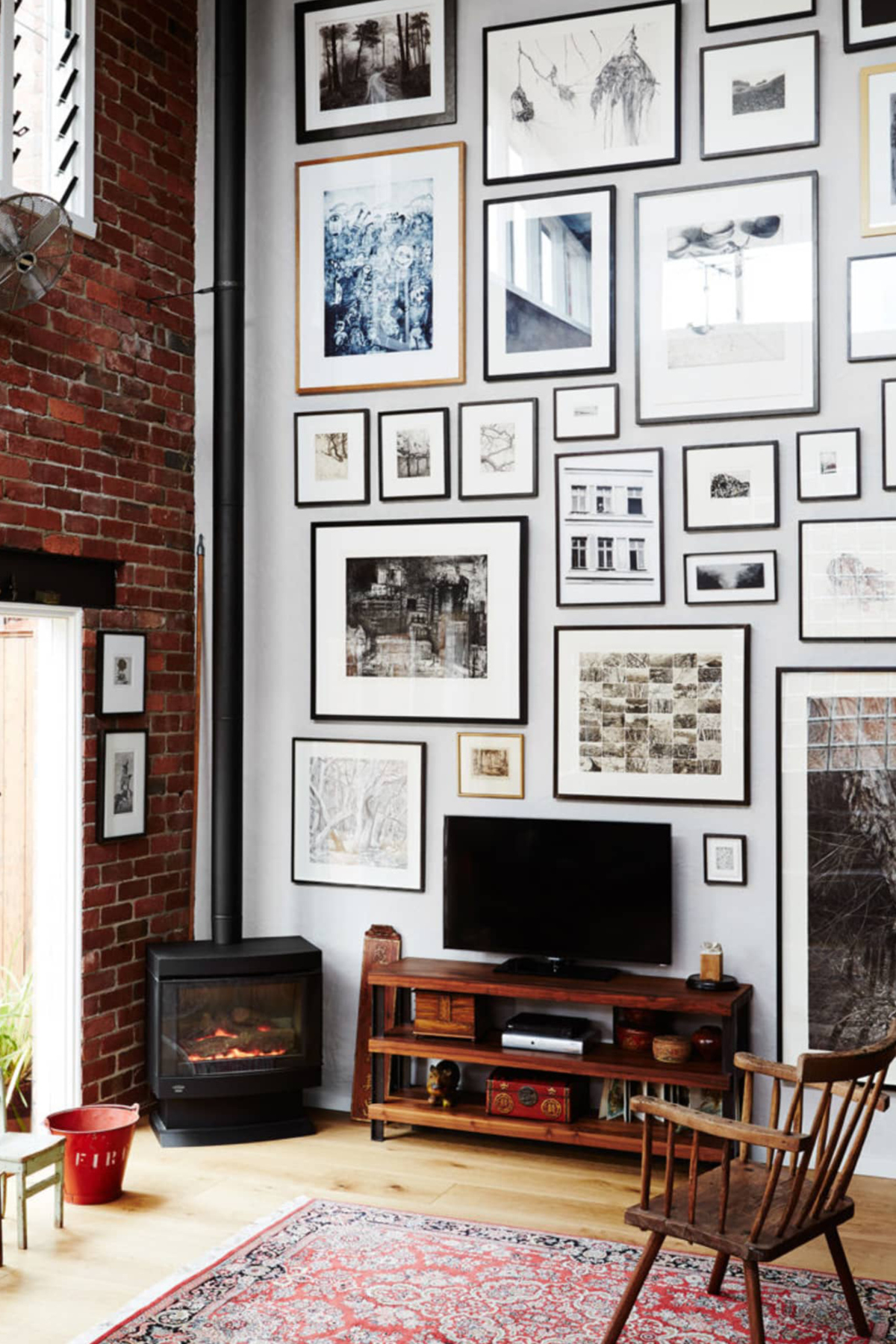 Gallery wall via Lucy Feagins The Design Files
