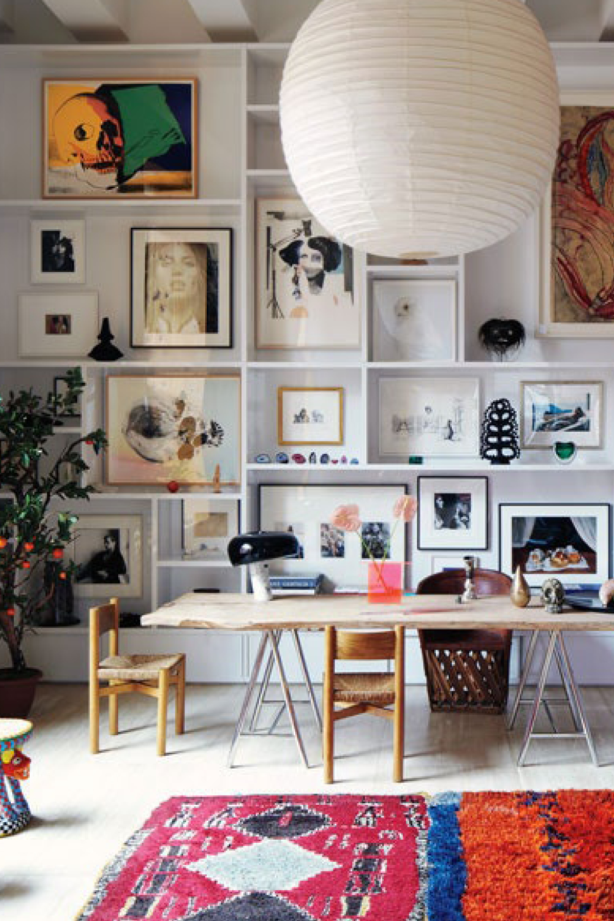 Gallery wall via architecturaldigest
