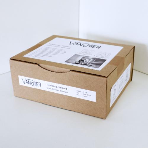 7. VanHier tafellamp verpakking biocirculair