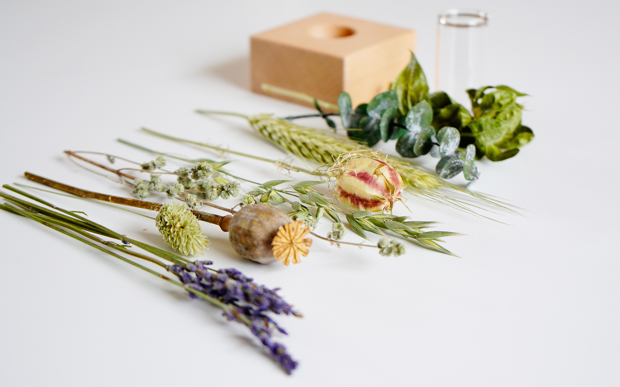 Zintuigen ruiken Droogbloemen