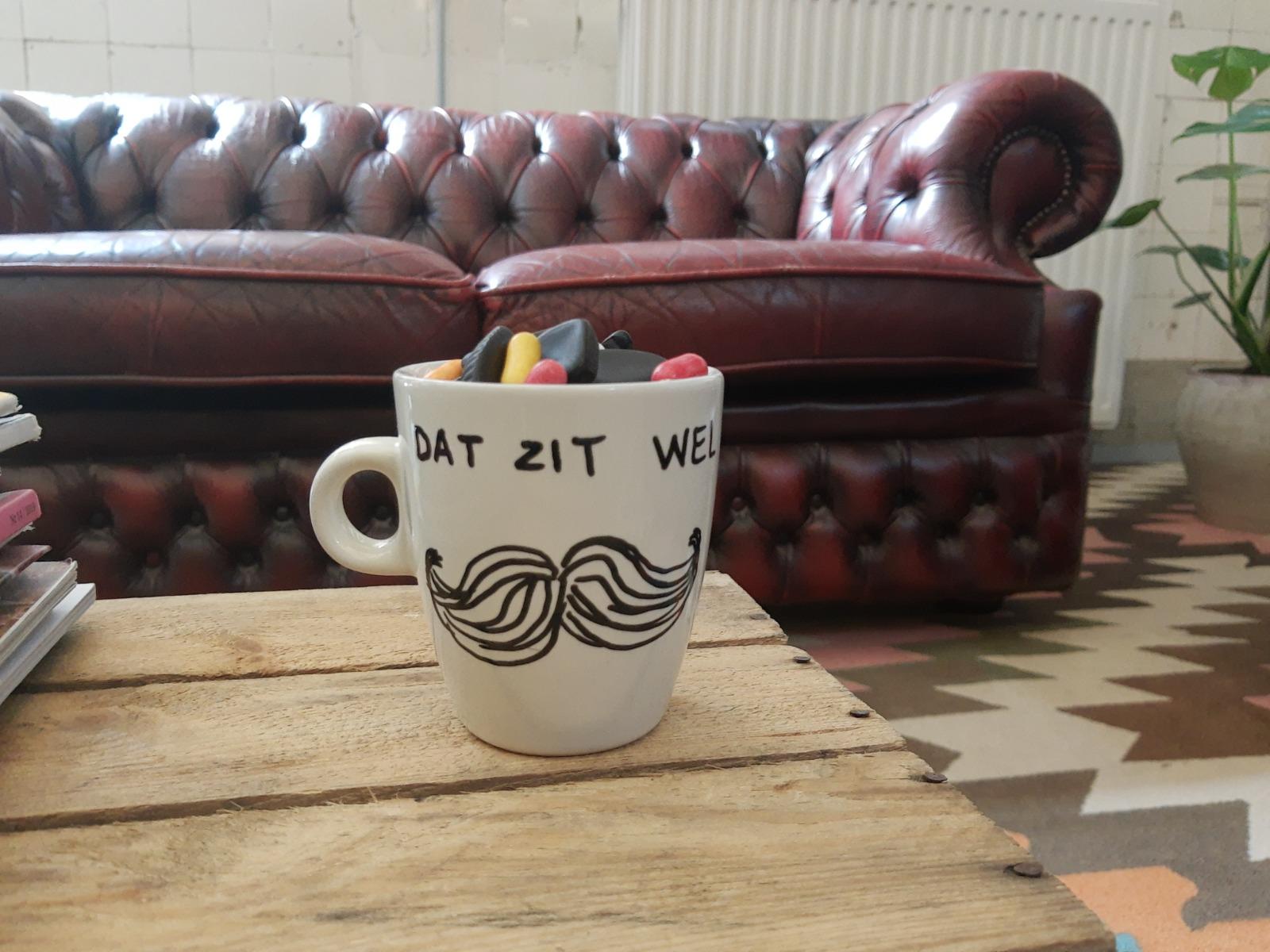 DIY koffiemok cadeau voor vaders