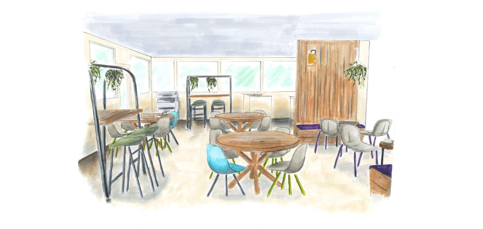 Personeelsruimte Adres Hogeschool Almere Sketch